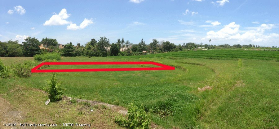 Rectangular shaped 400m2 land perfect for villa