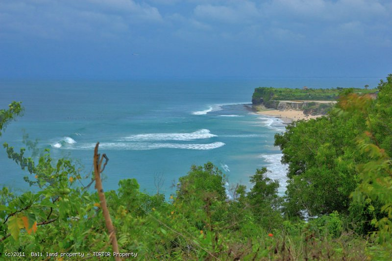 Large Bali cliff front land 1500m2 freehold for sale dreamland views
