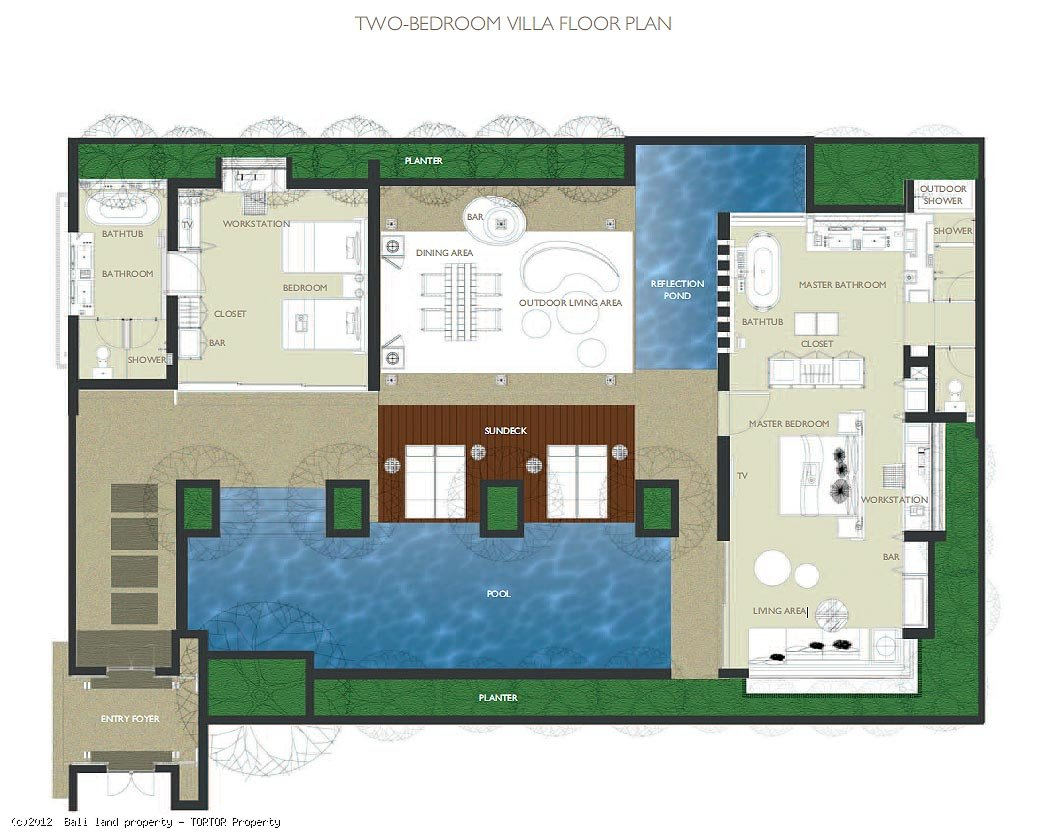 W residence villas for sale 2 bedroom pool bali management for Pool house plans with bedroom