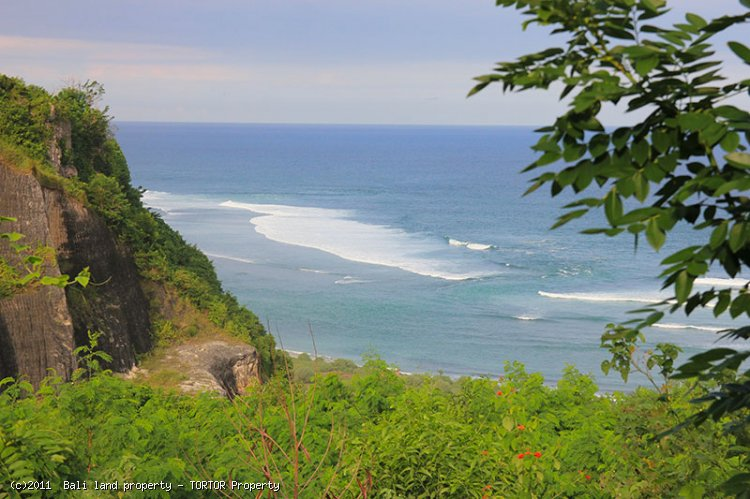 Large land South Bali for hotel resort or villas ocean views
