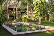 Bali Beachfront villa property for sale 6 bedrooms main house guest house
