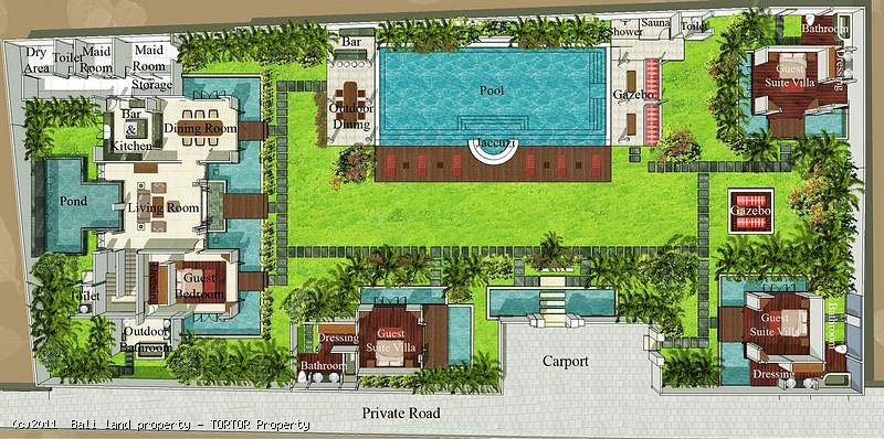 balinese pavilion style house plans - arts