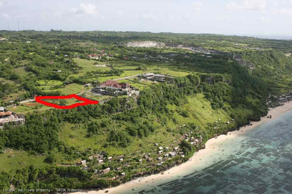 Bali cliff land for sale on millionaires row 49m cliff frontage